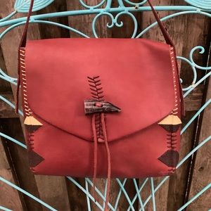 Lucky Brand Hand stitched  Shoulder Bag